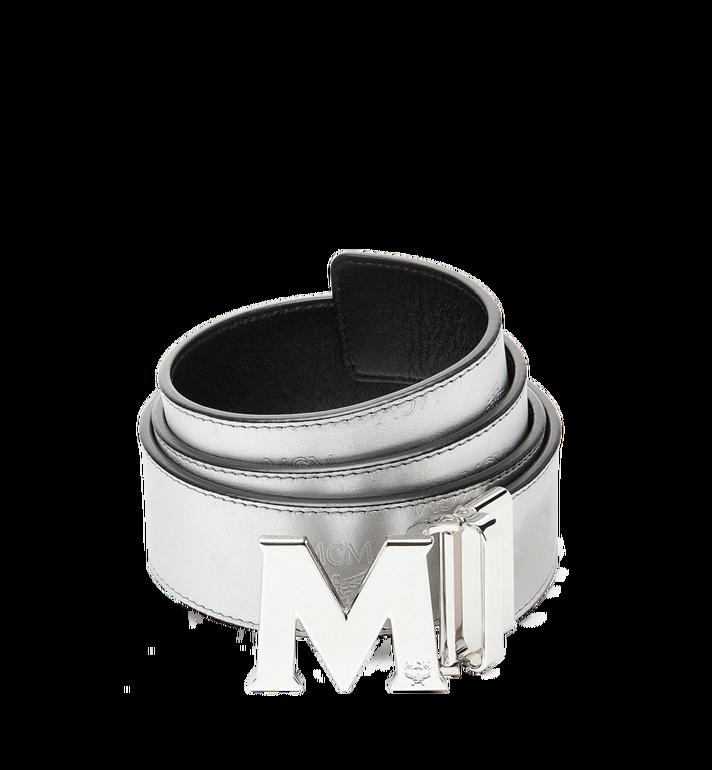 "MCM Claus M Reversible Belt 1.75"" in Monogram Leather MXB8SMM18SV001 AlternateView"