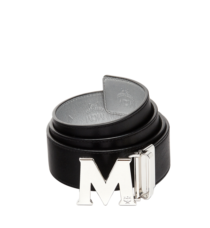 "MCM Claus M Reversible Belt 1.75"" in Monogram Leather MXB8SMM18SV001 AlternateView2"