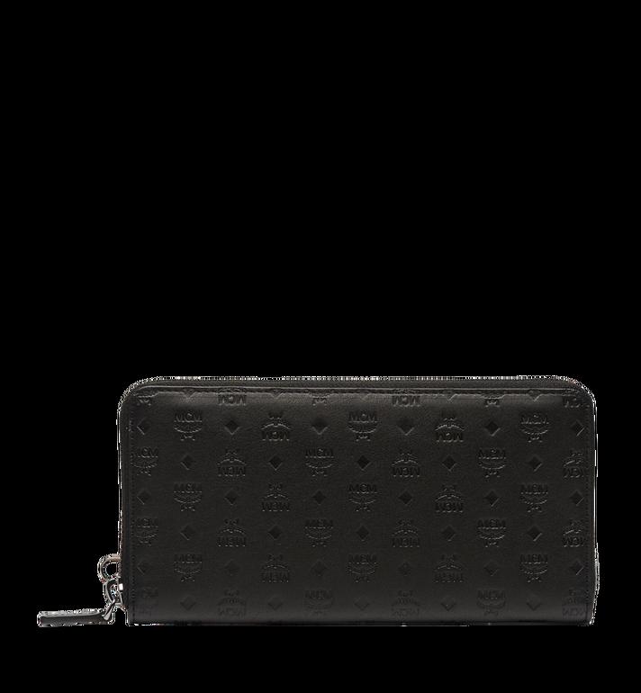 MCM Sigmund Brieftasche mit Rundum-Reißverschluss aus Leder mit Monogramm MXL6AIE25BK001 AlternateView