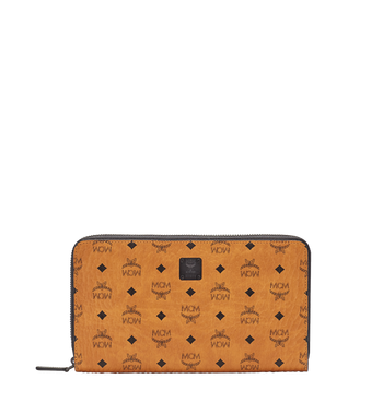 MCM Travel-Kollektion Reisepass-Brieftasche mit Rundum-Reißverschluss und Handgelenksband MXL6SHE08CO001 AlternateView