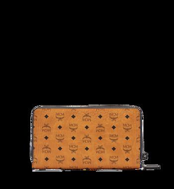 MCM Travel-Kollektion Reisepass-Brieftasche mit Rundum-Reißverschluss und Handgelenksband MXL6SHE08CO001 AlternateView3