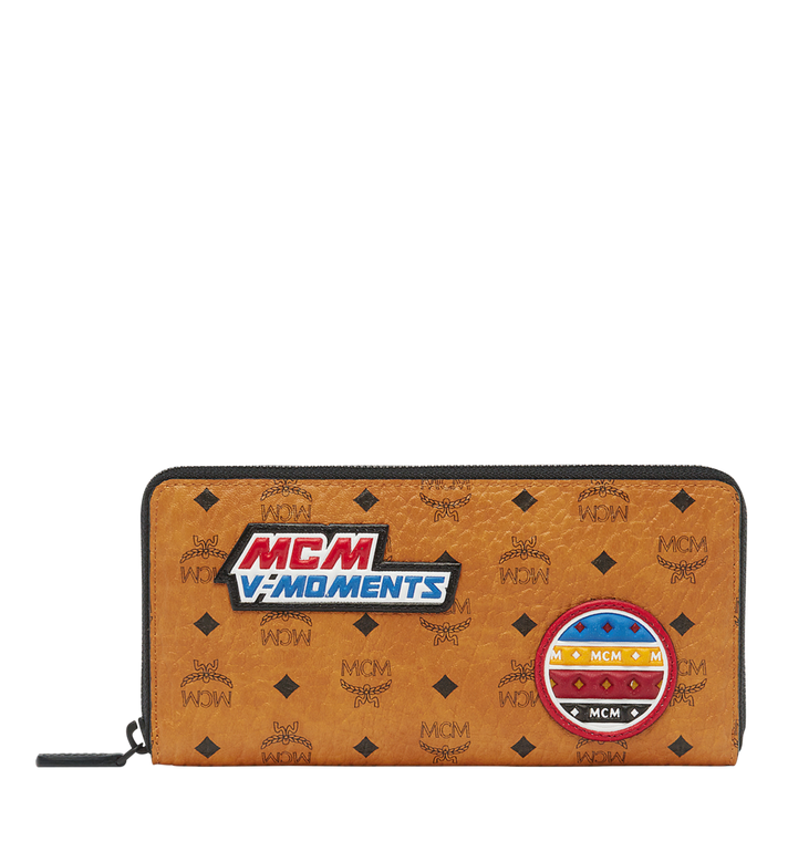 MCM Zip Around Wallet in Victory Patch Visetos MXL8SVE20CO001 AlternateView