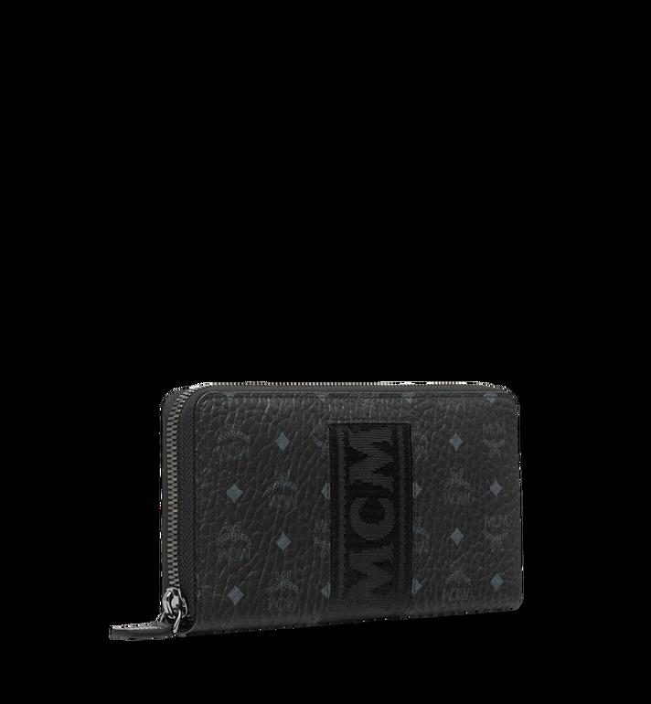 MCM Zip Around Wallet in Webbing Visetos MXL9SVI89BK001 AlternateView2