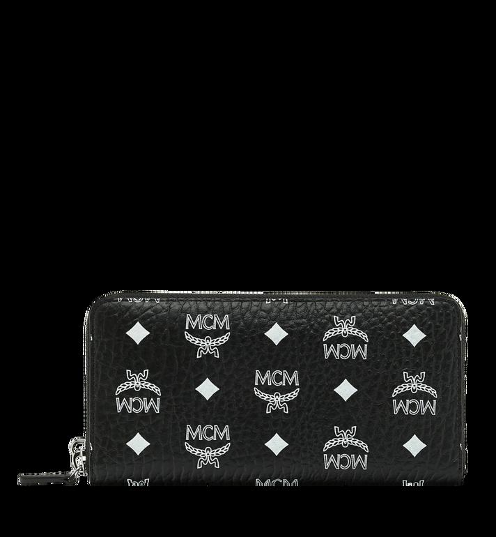 MCM Reissverschlussbrieftasche mit Handgelenksband und Visetos-Logo in Weiss MXL9SWA06BV001 AlternateView