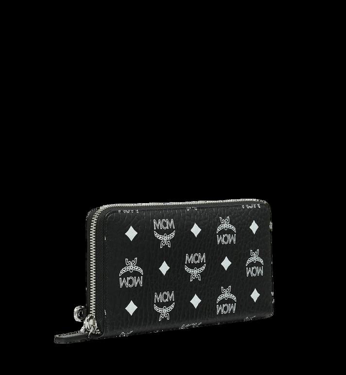 MCM Reissverschlussbrieftasche mit Handgelenksband und Visetos-Logo in Weiss MXL9SWA06BV001 AlternateView2