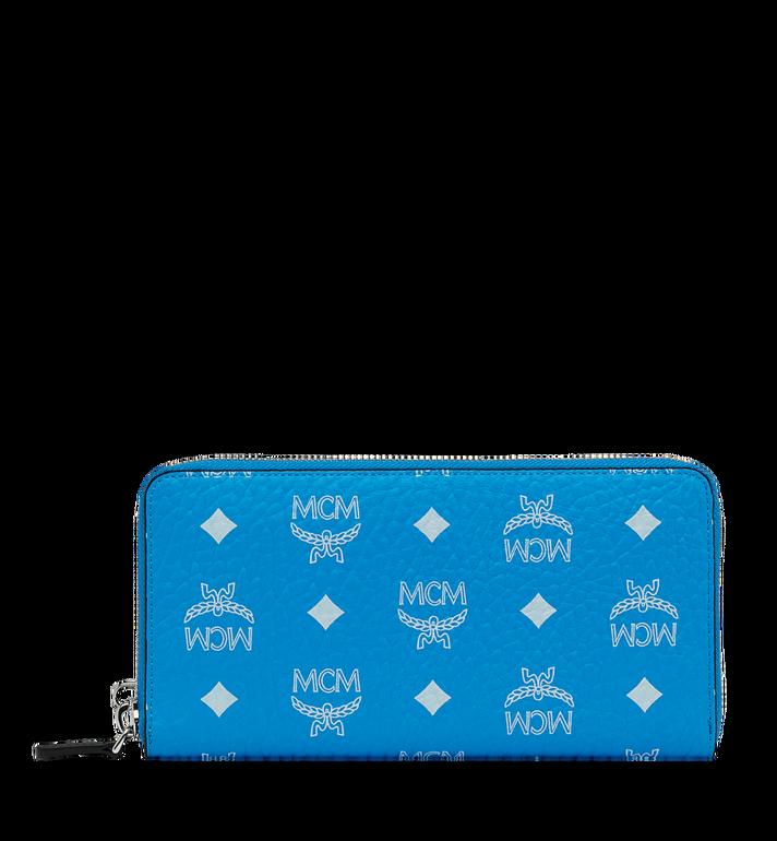 MCM Reissverschlussbrieftasche mit Handgelenksband und Visetos-Logo in Weiss MXL9SWA06HI001 AlternateView