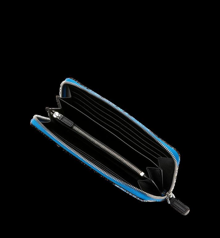 MCM Reissverschlussbrieftasche mit Handgelenksband und Visetos-Logo in Weiss MXL9SWA06HI001 AlternateView4