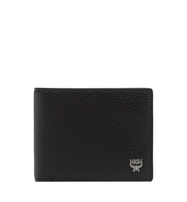 MCM Ottomar Bifold Wallet in Grained Leather MXS7SOT06BK001 AlternateView