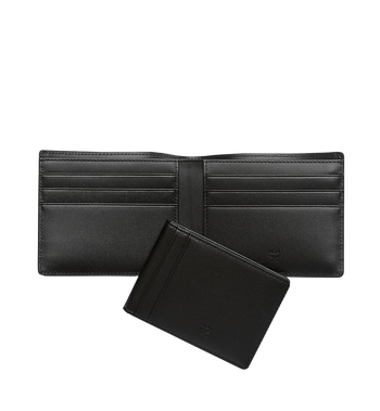 MCM Ottomar Bifold Wallet in Grained Leather MXS7SOT06BK001 AlternateView5