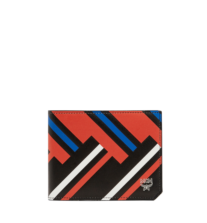 MCM Coburg Bifold Wallet in Victory Print Leather MXS8SCE83BB001 AlternateView