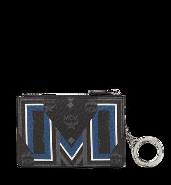 MCM Gunta M Stripe Schlüssseletui in Visetos MXS8SVE06BK001 AlternateView3