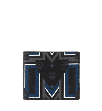 MCM Bifold Wallet in Gunta M Stripe Visetos MXS8SVE63BK001 AlternateView