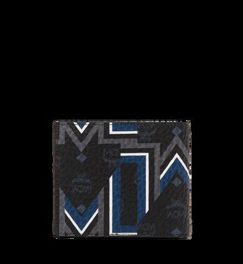 MCM Bifold Wallet in Gunta M Stripe Visetos MXS8SVE63BK001 AlternateView3