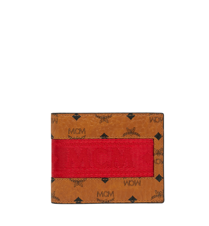 MCM Bifold with Card Case in Webbing Visetos AlternateView