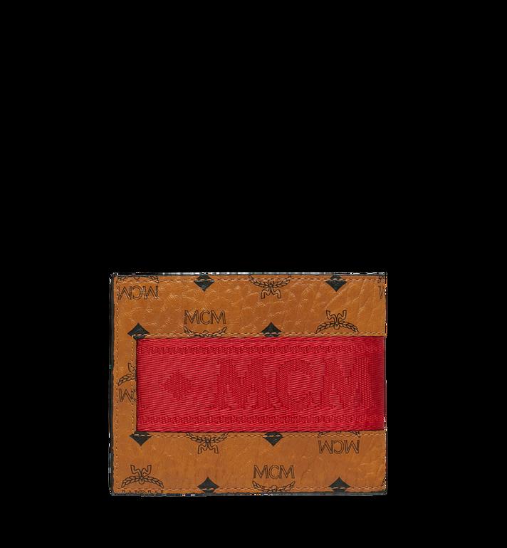 MCM Bifold with Card Case in Webbing Visetos AlternateView3