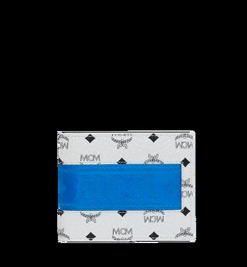 MCM Portefeuille à deuxvolets avec porte-cartes en Webbing Visetos MXS9SVI93WT001 AlternateView