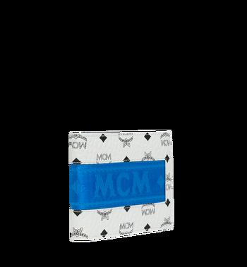 MCM Portefeuille à deuxvolets avec porte-cartes en Webbing Visetos MXS9SVI93WT001 AlternateView2