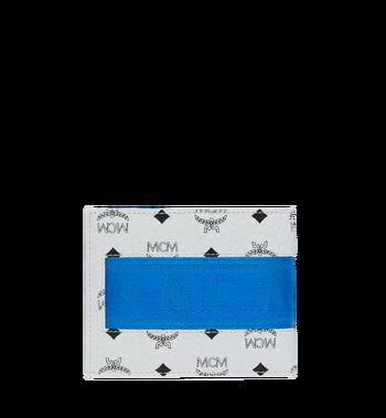 MCM Portefeuille à deuxvolets avec porte-cartes en Webbing Visetos MXS9SVI93WT001 AlternateView3