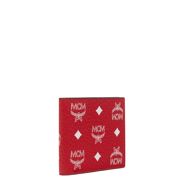 MCM Bifold Wallet in White Logo Visetos MXS9SWA07AV001 AlternateView2