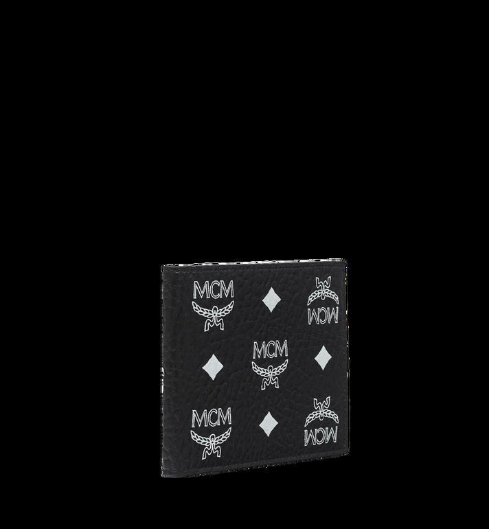 MCM Gefaltete Brieftasche mit Visetos-Logo in Weiss MXS9SWA07BV001 AlternateView2