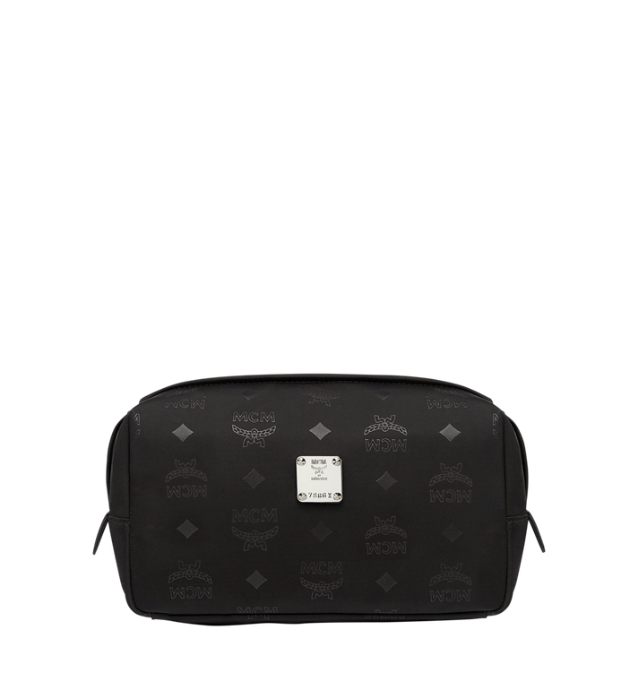 MCM Pochette Dieter Travel en nylon monogrammé MXZ7ADT43BK001 AlternateView