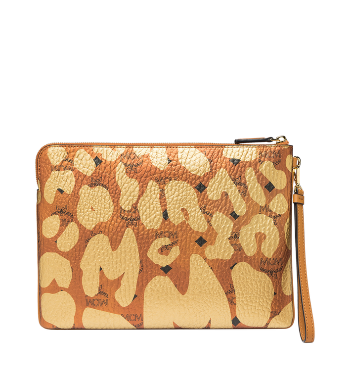 MCM Pochette zippée à dragonne en MCM Leopard Print MXZ8AVE26CO001 AlternateView3