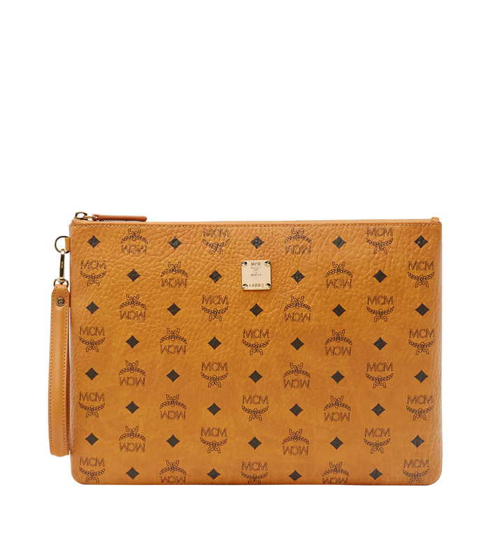 MCM Pochette avec dragonne Stark en Visetos MXZ8SVI17CO001 AlternateView