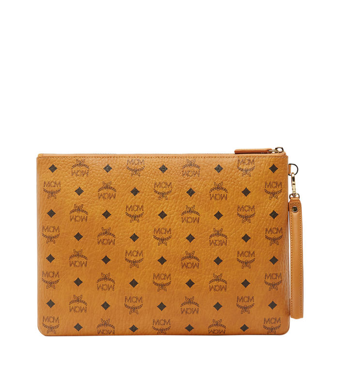 MCM Pochette avec dragonne Stark en Visetos MXZ8SVI17CO001 AlternateView3