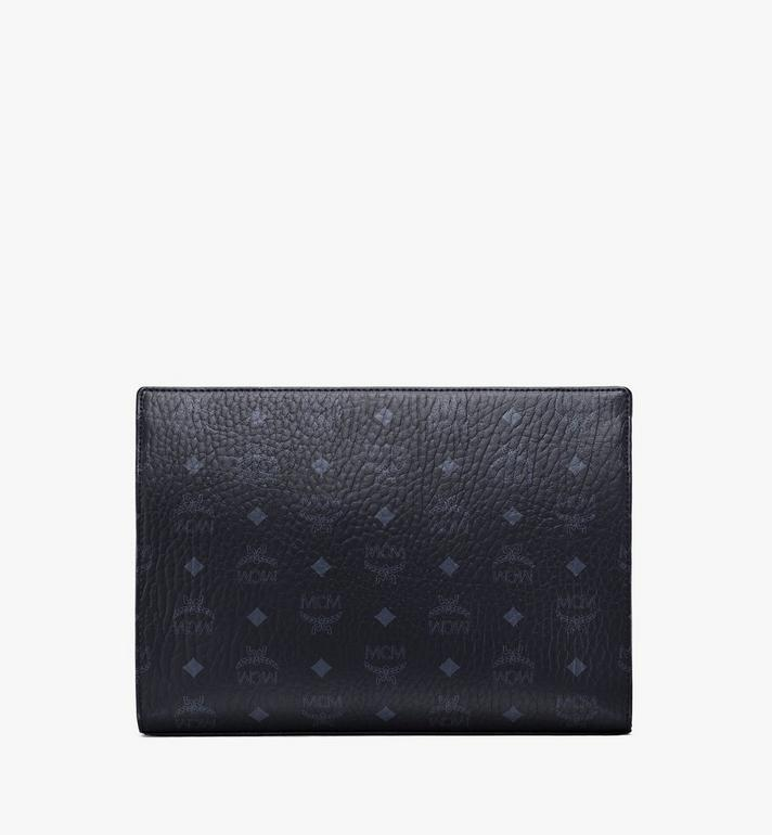 MCM Zip Pouch in Visetos Original MXZ8SVI70BK001 AlternateView4