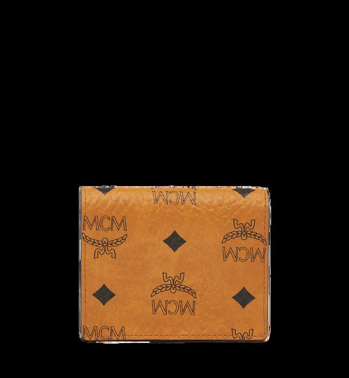 MCM Heritage Card Case in Visetos MYA6AVI85CO001 AlternateView3