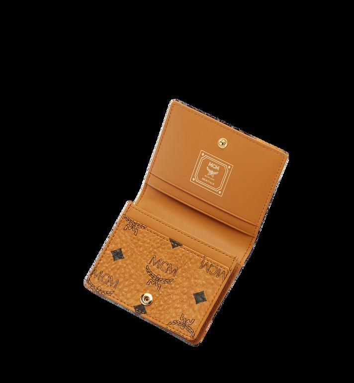 MCM Heritage Card Case in Visetos MYA6AVI85CO001 AlternateView4