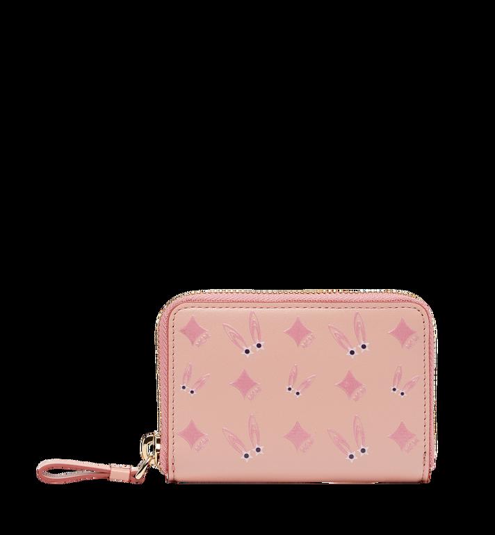 MCM Star Eyed Bunny Zip Around Card Case in Leather MYA8SXL28PV001 AlternateView