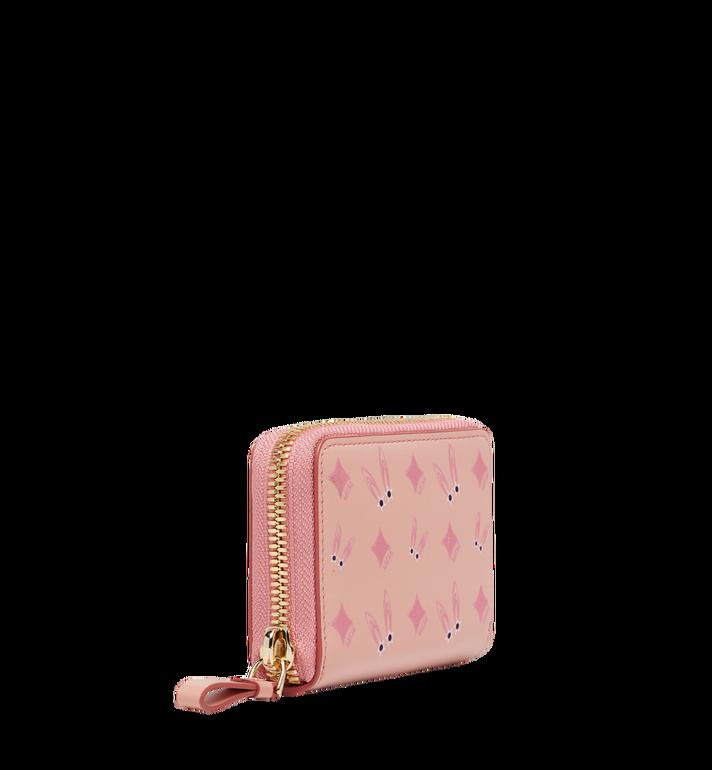 MCM Star Eyed Bunny Zip Around Card Case in Leather MYA8SXL28PV001 AlternateView2