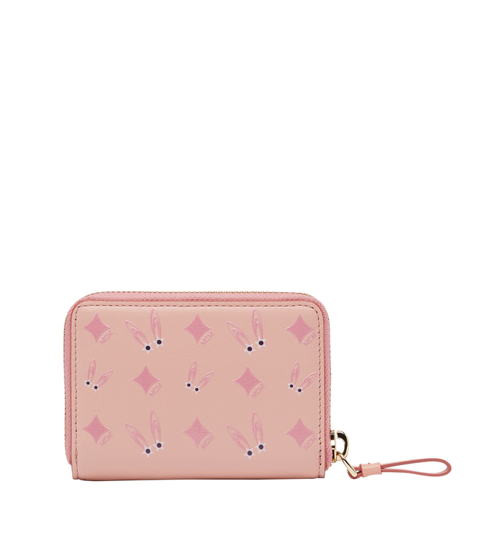 MCM Star Eyed Bunny Zip Around Card Case in Leather MYA8SXL28PV001 AlternateView3