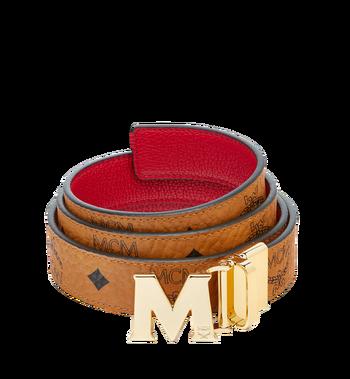 "MCM Color Visetos Reversible Belt 1"" MYB6AVC09RU001 AlternateView"
