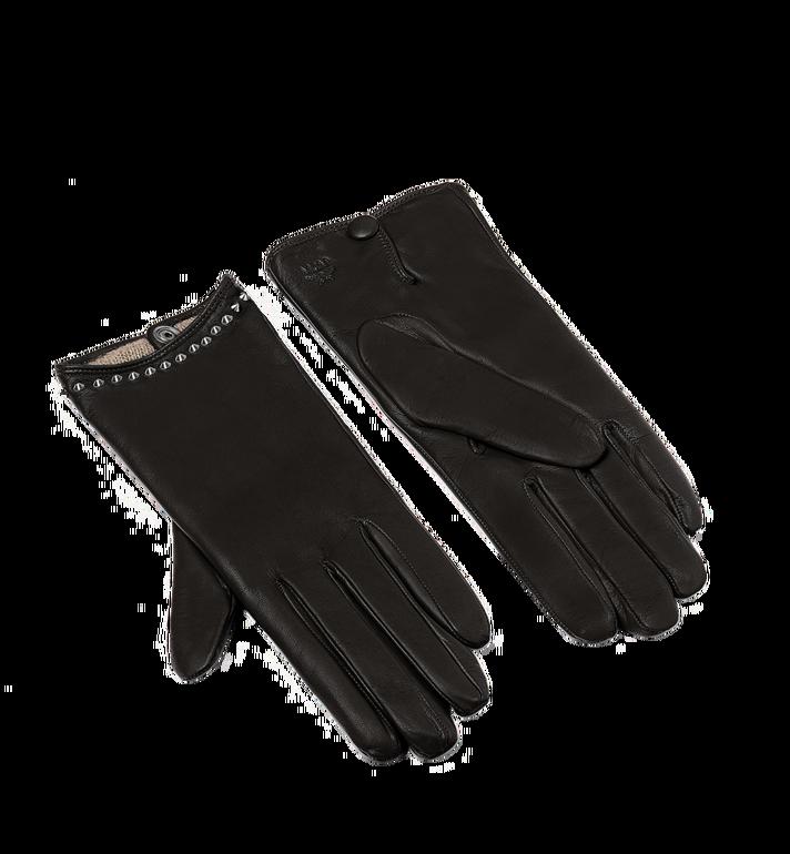 MCM Women's Studded Gloves in Leather MYG7AMM19BK00L AlternateView