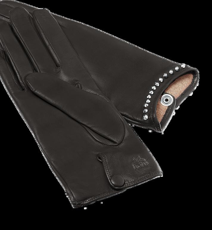 MCM Women's Studded Gloves in Leather MYG7AMM19BK00L AlternateView2