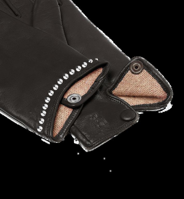 MCM Women's Studded Gloves in Leather MYG7AMM19BK00L AlternateView3