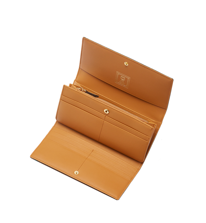 MCM Heritage Three Fold Wallet in Visetos MYL6AVI64CO001 AlternateView4