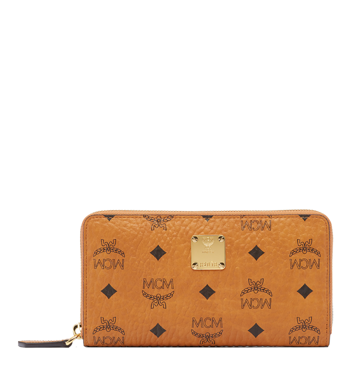 MCM Heritage Zip Around Wallet in Visetos MYL6AVI67CO001 AlternateView1