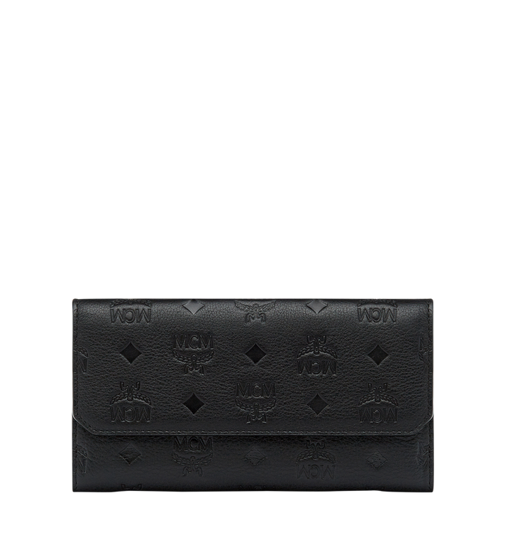 MCM Klara Two Fold Wallet in Monogram Leather MYL7AKM02BK001 AlternateView1