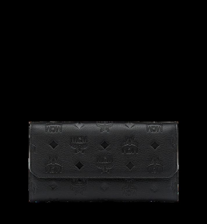 MCM Klara gefaltete Brieftasche aus Leder mit Monogramm MYL7AKM02BK001 AlternateView