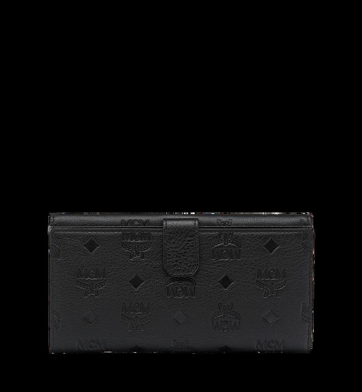 MCM Klara gefaltete Brieftasche aus Leder mit Monogramm MYL7AKM02BK001 AlternateView3