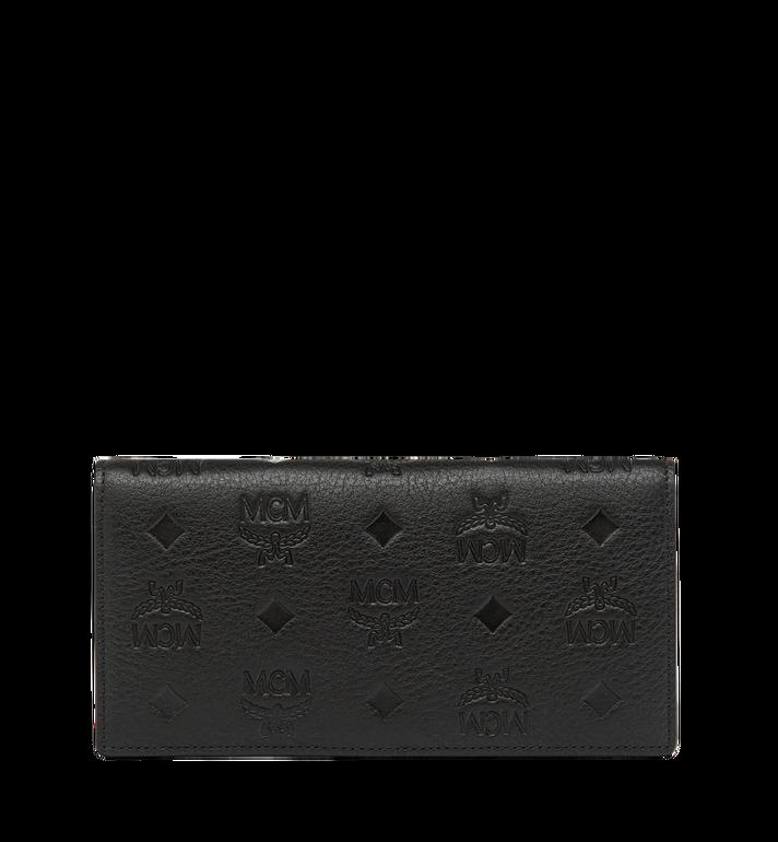 MCM Klara gefaltete Brieftasche aus Leder mit Monogramm MYL7AKM12BK001 AlternateView