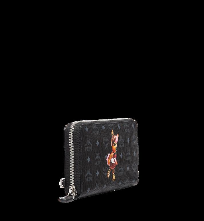 MCM Rabbit Zip Around Wristlet Wallet in Visetos MYL7AXL32BK001 AlternateView2