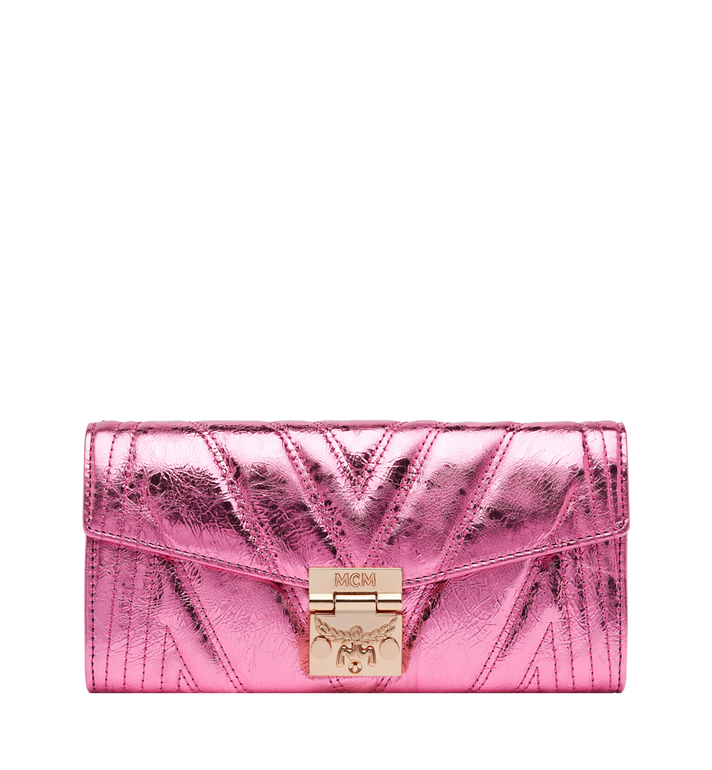 MCM Patricia Crossbody Wallet in Quilted Metallic Leather MYL8APA61UK001 AlternateView