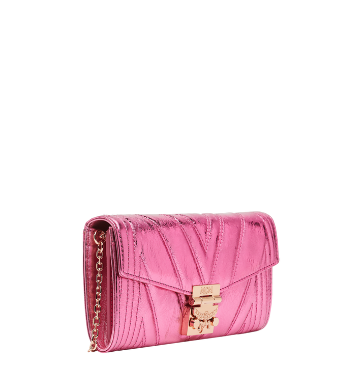 MCM Patricia Crossbody Wallet in Quilted Metallic Leather MYL8APA61UK001 AlternateView2
