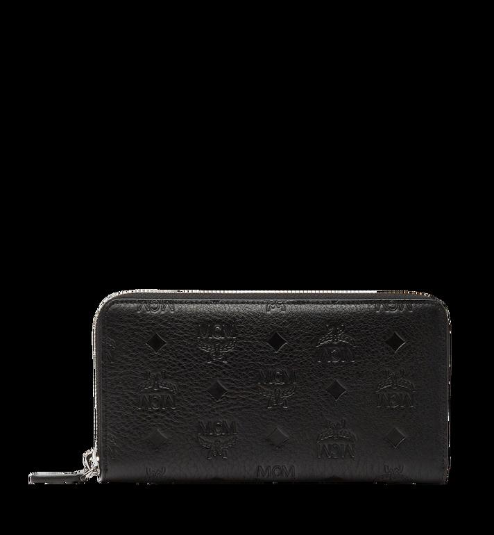 MCM Klara Zip Around Wallet in Monogram Leather MYL8SKM11BK001 AlternateView