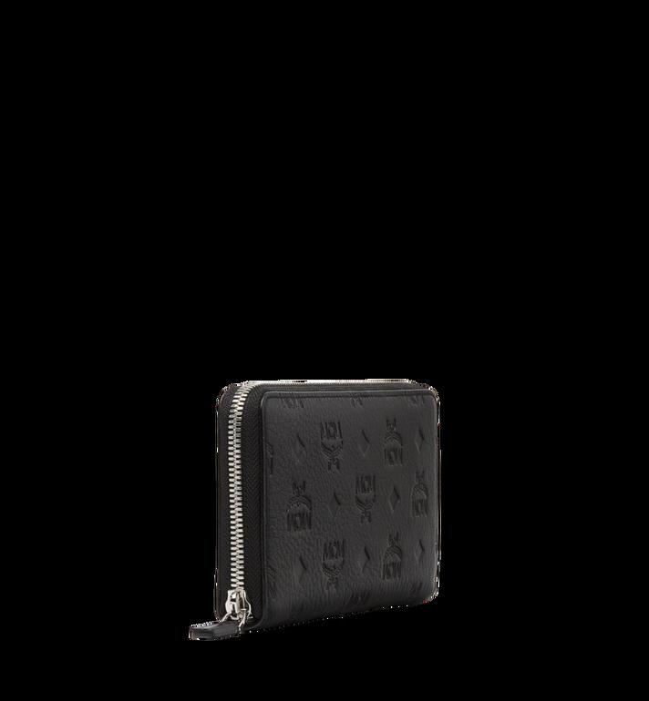 MCM Klara Zip Around Wallet in Monogram Leather MYL8SKM11BK001 AlternateView2