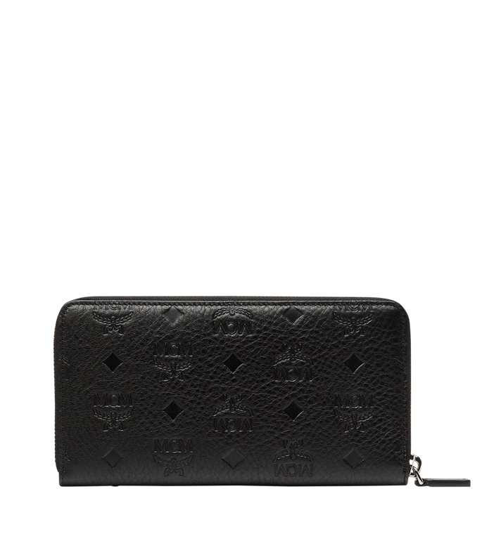 MCM Klara Zip Around Wallet in Monogram Leather MYL8SKM11BK001 AlternateView3